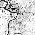 Antwerpen Karte Grau von HubertRoguski