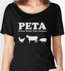 PETA People Eating Tasty Animals Women's Relaxed Fit T-Shirt