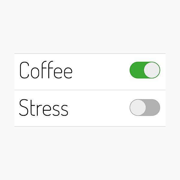 Coffee On Stress Off Photographic Print