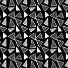 Black & White Geometric Pattern by AdeleManuti