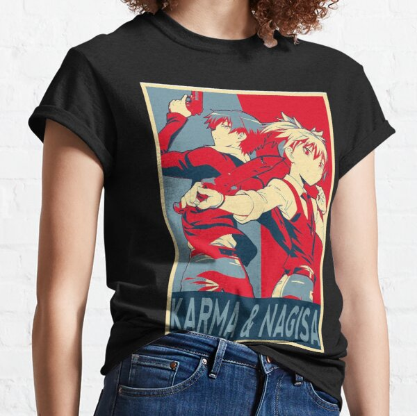 Karma and Nagisa assassination classroom anime otaku Classic T-Shirt