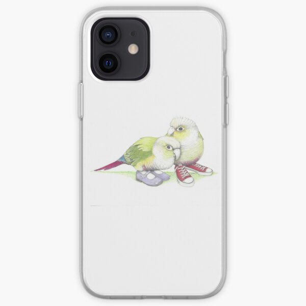 2 conures in low tops and Mary Janes iPhone Soft Case
