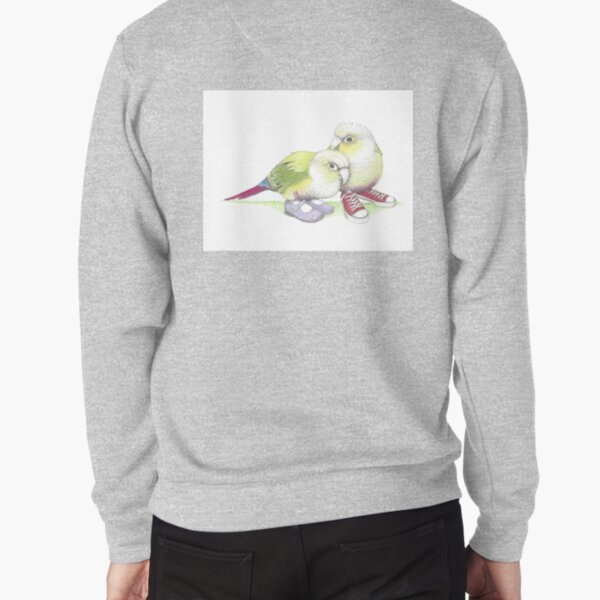 2 conures in low tops and Mary Janes Pullover Sweatshirt