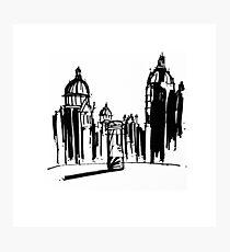 Ink Cityscape Photographic Print
