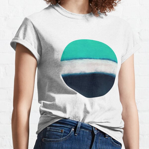 Mark Rothko Painting Style Art Green White Blue #004 Classic T-Shirt