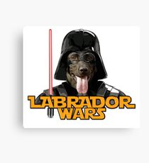 Cute chocolate labrador retriever star war Canvas Print