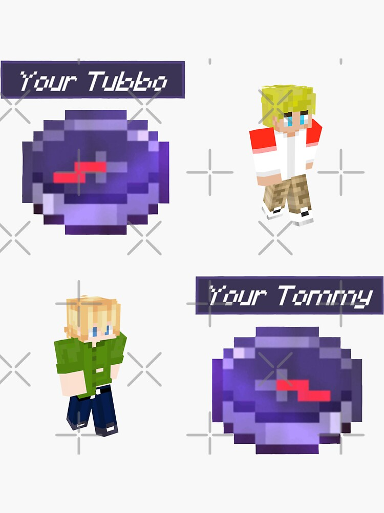 your tommy your tubbo stickers by xcharlottecat