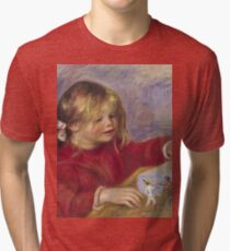 Renoir Auguste - Claude Renoir At Play  Tri-blend T-Shirt