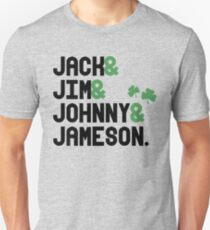 Jack & Jim & Johnny & Jameson T-Shirt