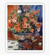 Renoir Auguste - Geraniums And Cats Sticker