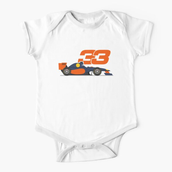 Max Verstappen 33 Formula1 Mad Max f1 Car Red bull Racing 2021 Short Sleeve Baby One-Piece