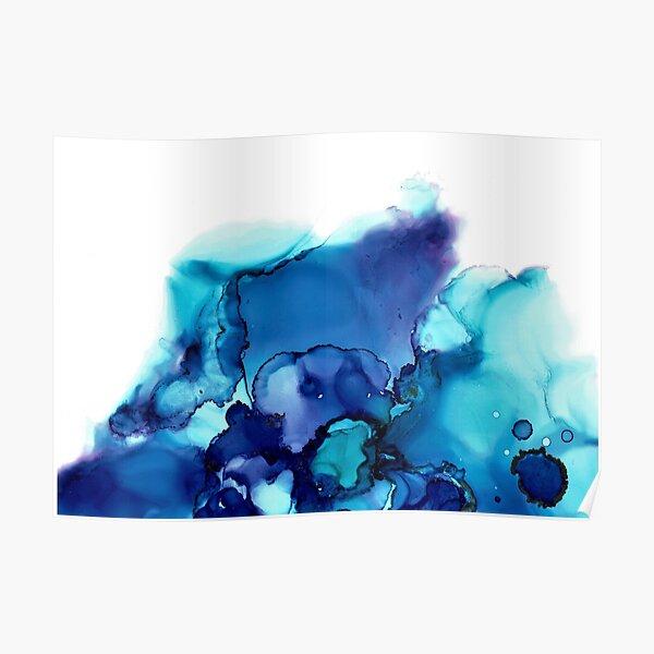 "Alcohol Ink Art ""Blue Ocean"" Poster"