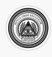 Illuminati New World Order Eye Triangle Sticker