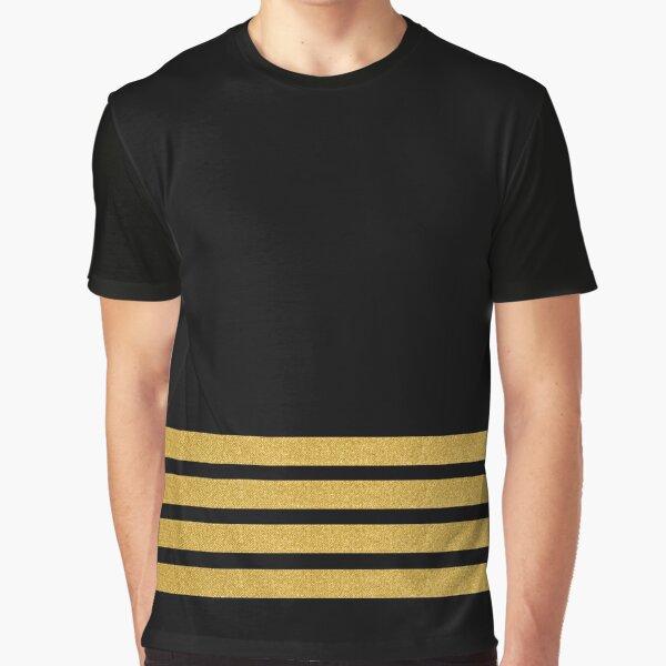 Four Gold Stripes Graphic T-Shirt