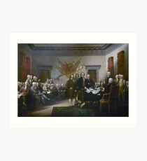 Declaration of Independence by John Trumbull (1819) Art Print