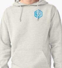 Ingress Game Logo over left Breast - Blue (Resistance) Pullover Hoodie