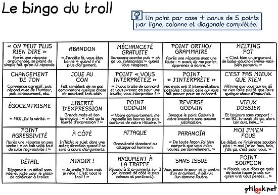 Ptilouk.net - Le bingo du troll by ptilouk