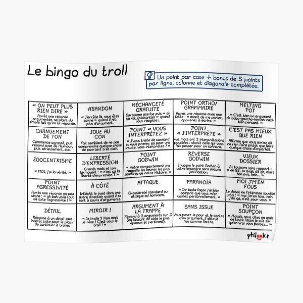 Ptilouk.net - Le bingo du troll Poster