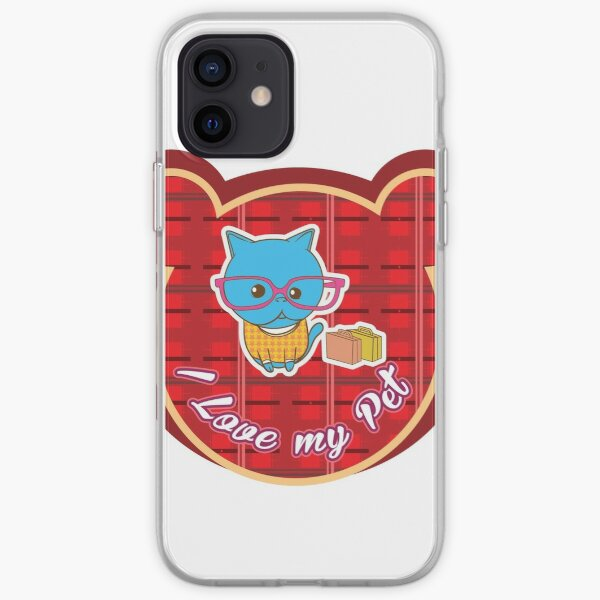 I love my Pet - Red Collor iPhone Soft Case