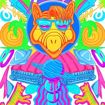 Psychedelic ALF by Ravenfire