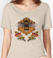 The Bumble Bee & his Honeycomb Women's Relaxed Fit T-Shirt