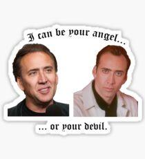Angel or Devil Sticker