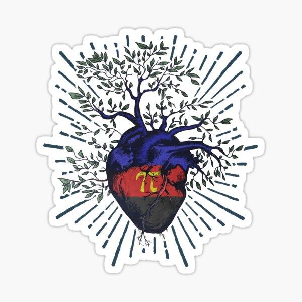 Polyamory Heart Tree of Life Sticker