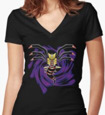 The Distortion World's Giratina Women's Fitted V-Neck T-Shirt