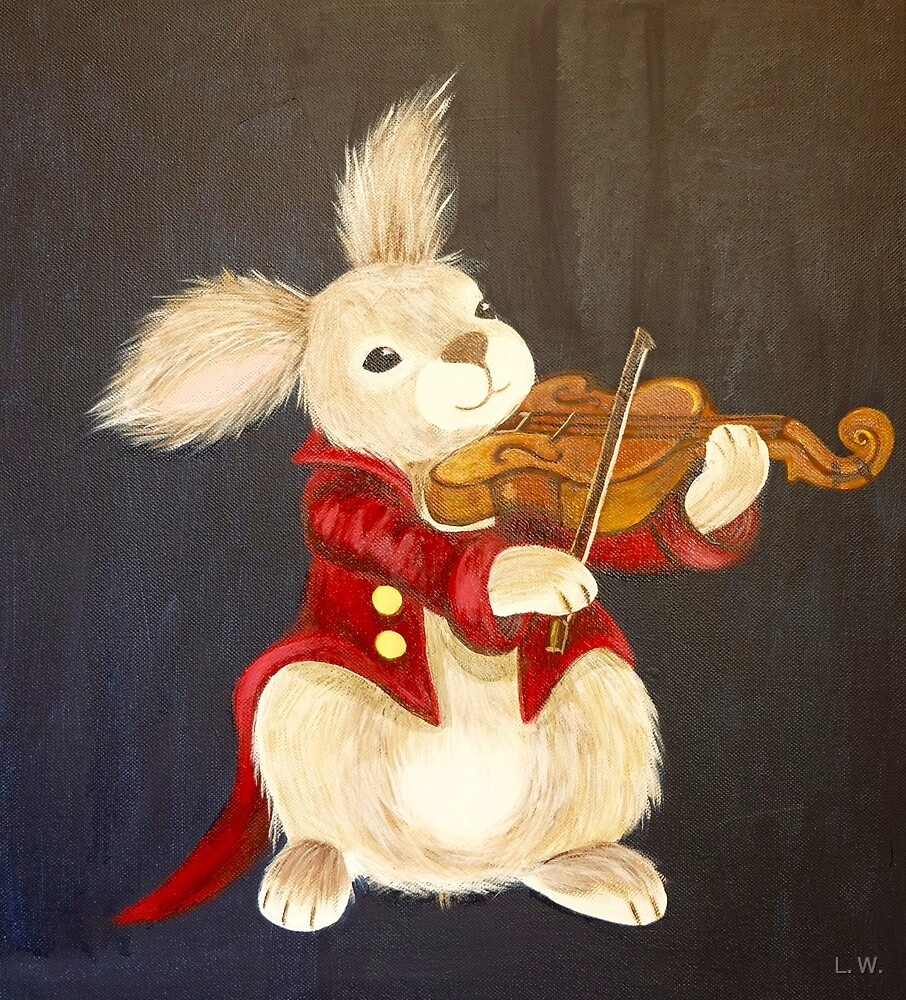 BUNNY AND VIOLIN by L.W. Turek