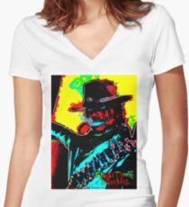 Rambler Tequila Bandit  Women's Fitted V-Neck T-Shirt
