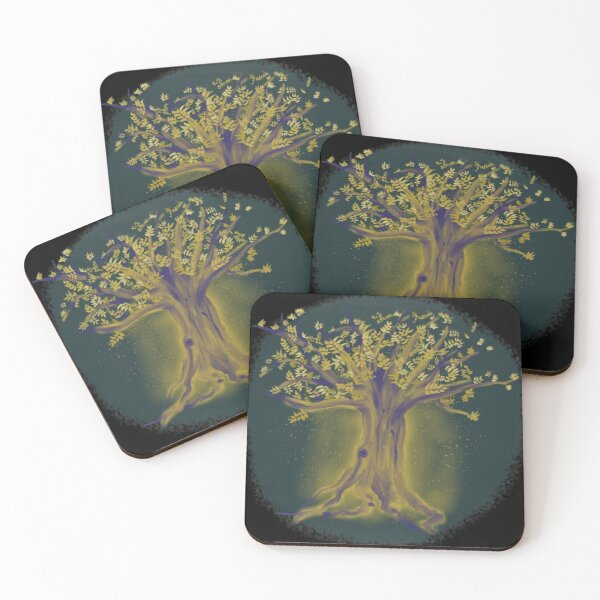 Glowing Tree Coasters (Set of 4)