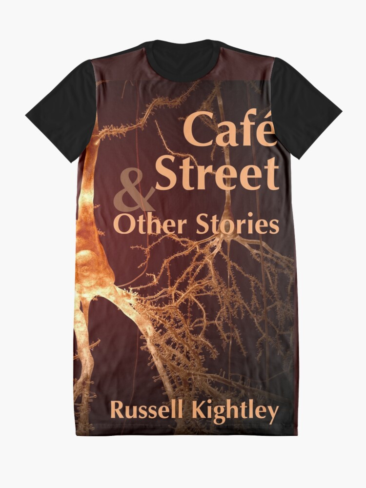 Alternate view of Cover of Café Street & Other Stories, A Collection of Short Tales. Graphic T-Shirt Dress