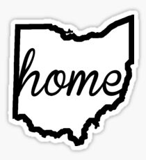 Ohio Outline Home Sticker
