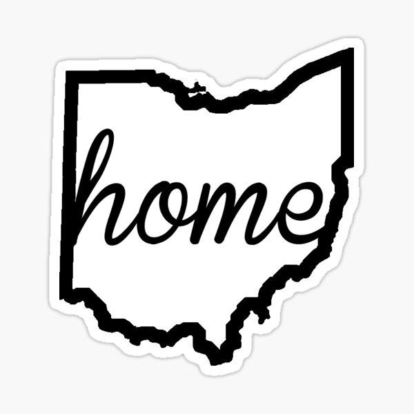Ohio Outline Home Sticker