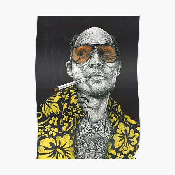 Fear and Loathing in Las vegas art dictionary page art print vintage antique O1