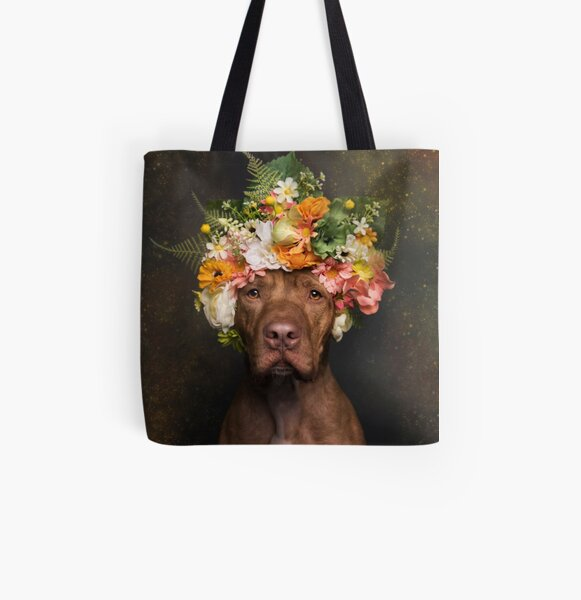 Flower Power, Rodger All Over Print Tote Bag