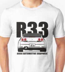 Nissan Skyline R33 Transparent Version Unisex T-Shirt