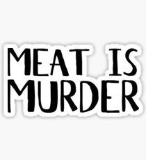 Vegetarian Meat Is Murder Vege Green  Sticker
