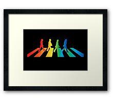The Beatles Abbey Road Rainbow Framed Print