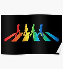 The Beatles Abbey Road Rainbow Poster