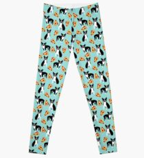 Boston Terrier pizza slices junk food funny dog gift for boston terrier owners  Leggings