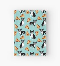 Boston Terrier pizza slices junk food funny dog gift for boston terrier owners  Hardcover Journal