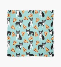 Boston Terrier pizza slices junk food funny dog gift for boston terrier owners  Scarf
