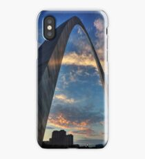 Sunset Under the Gateway Arch 001 iPhone Case/Skin