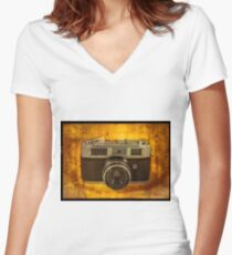 Rank Mamiya Rangefinder Women's Fitted V-Neck T-Shirt