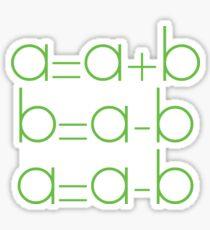 Swap Variables Sticker