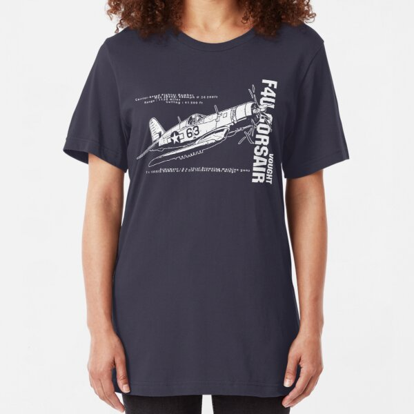 F4U Corsair Fighter Bomber Slim Fit T-Shirt