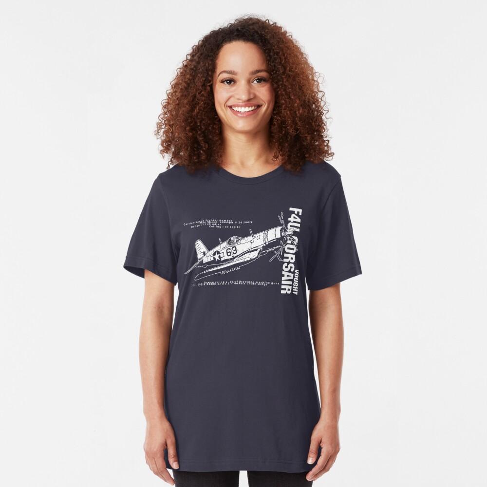 F4U Corsair Fighter Bomber Slim Fit T-Shirt
