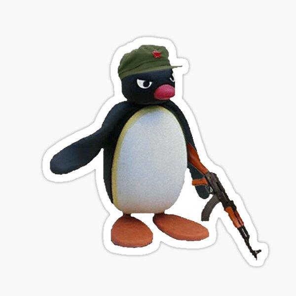 Merch officiel Angry Pingu AK-47 Sticker