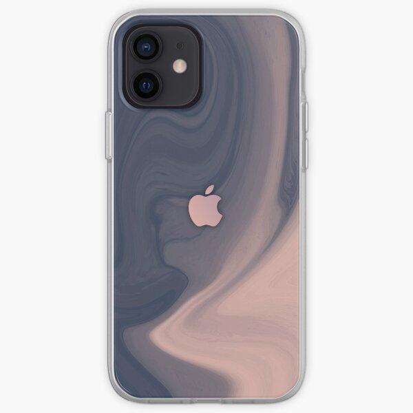 Textura de mármol rosa y gris 12 Max Pro Funda blanda para iPhone
